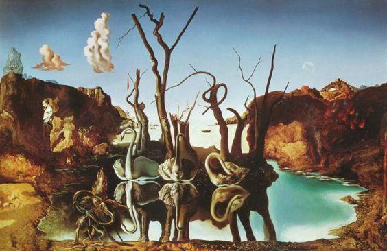 Salvador Dali: Swans Reflecting Elephants - 1937