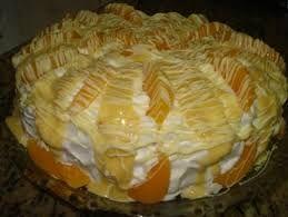 Resultado de imagem para bolo de creme de pessego