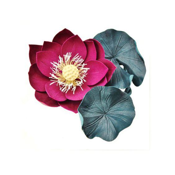 Lotus leather flower exotic flowers  by PresentPerfectStudio