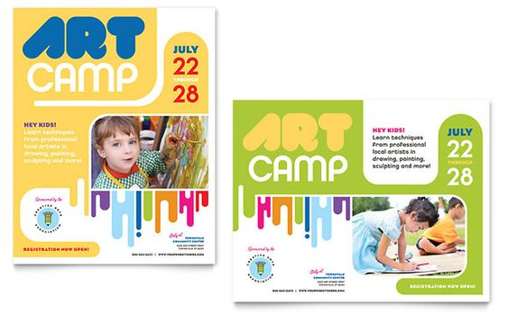 summer camp Graphic Design  Ideas, Inspiration + Resources by - kindergarten brochure template