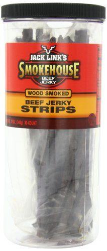 TOPSELLER! Jack Link`s Smokehouse Beef Jerky Strips, Wood Smoked, 30-Count Jar $23.57