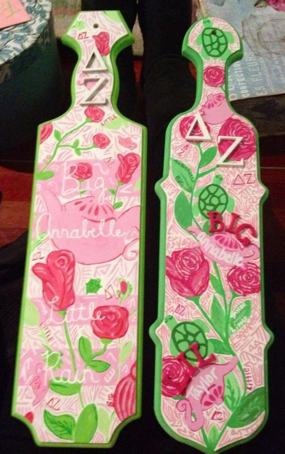 greek paddle template - the new delta zeta little sisters from northeastern