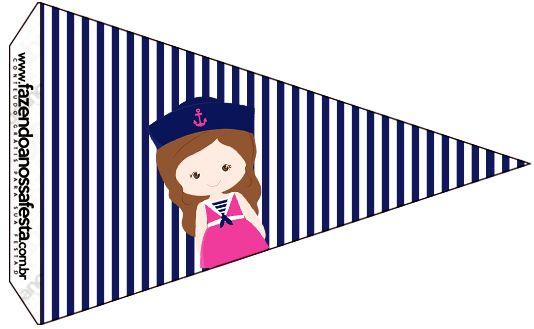 Bandeirinha Sanduiche 4 Menina Marinheira