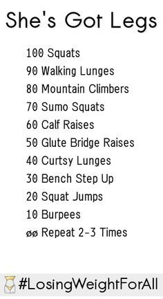 Try this leg workout and feel the burn. #fitness