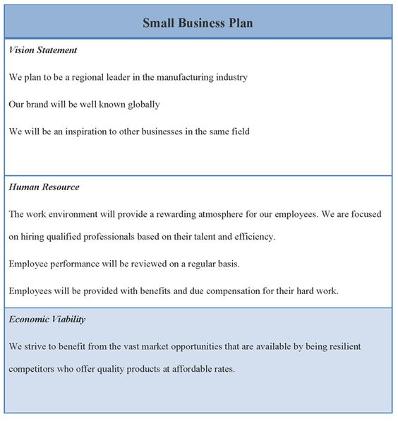 Sbdc business plan