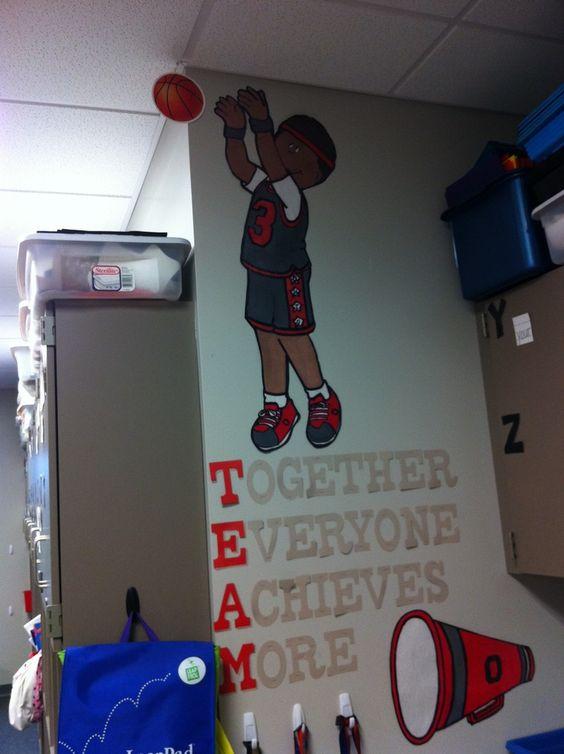 Classroom Board Decoration Ideas For High School ~ Sports theme classroom decorations