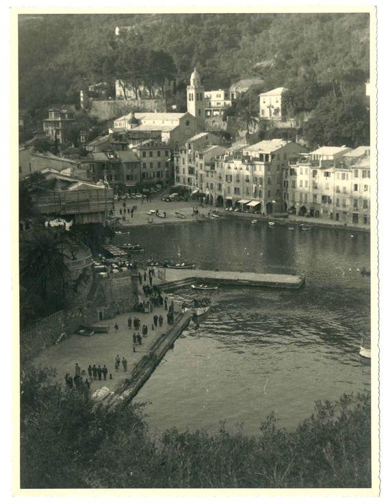 PORTOFINO.PANORAMA F237 Foto d epoca Old Photo Vintage Marazzi Milano 1950