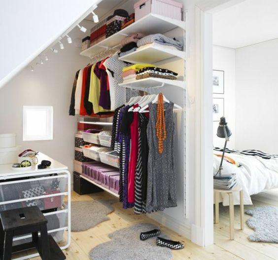 Ankleidezimmer dachschräge ideen  Begehbarer Kleiderschrank planen - 50 Ankleidezimmer schick ...