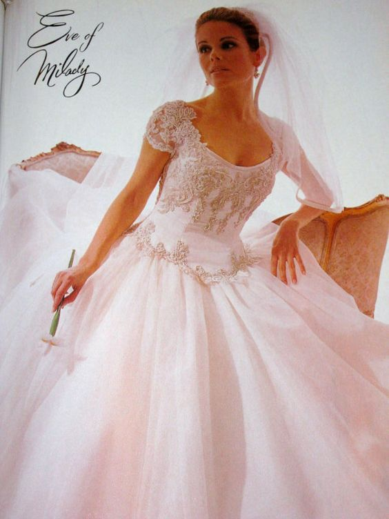 1990s bridal ads eve of milady retro brides pinterest magazine ads magazines and 1990s. Black Bedroom Furniture Sets. Home Design Ideas
