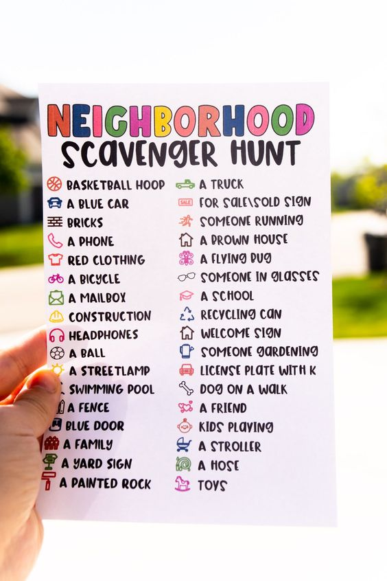 Make a walk around the neighborhood a little more fun with this printable neighborhood scavenger hunt! Kids will have a blast trying to find all of these things on their walk and adults will love that kids will be entertained the entire walk!