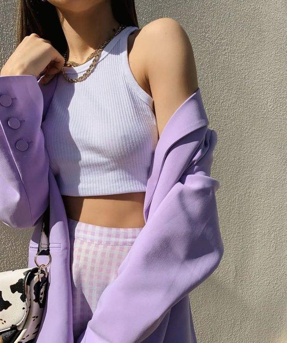 lavender is just THAT colorpic.twitter.com/r9RJUJN7OP #style #fashion #lavender #purple #outfit #monochrome