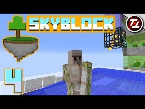 Minecraft Skyblock 4 Nether Trip And Iron Golems With Images