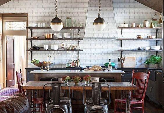 Vintage Tolix style metal chairs add vintage charm to a classic - stühle für die küche