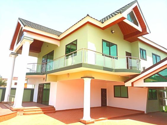 Newly Built 4 Bedroom House For Rent At East Legon American House Renting A House American Houses House