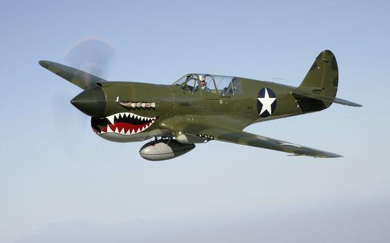 fighter planes of world war 2 | aircraft airplanes fighter world war ii warbird p40 1280x800 wallpaper ...