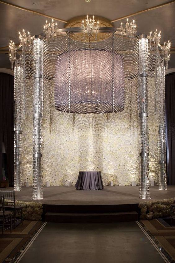 Breathing taking chuppah!! #bling #sweethearttable