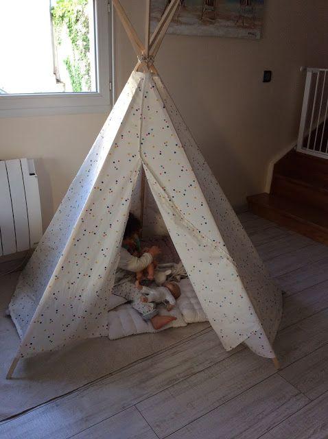 Un tipi home made pour enfant education coaching pinterest fait maison - Fabriquer un tipi indien ...