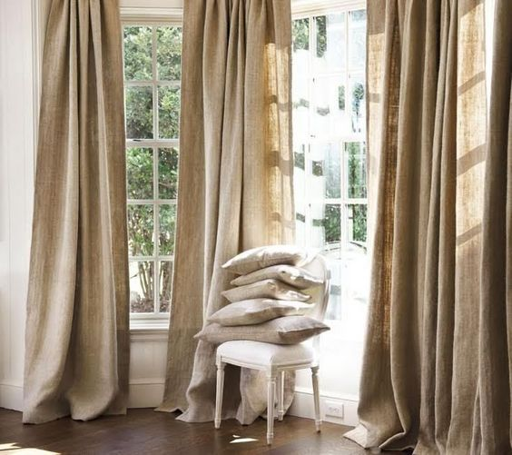 Details about Pure Natural Textured European Linen Curtains Drapes ...