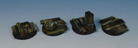 Some quick paint applied to a few of the Variety Pack bases a little while ago.        It's always fun to paint these wooden deck bases...