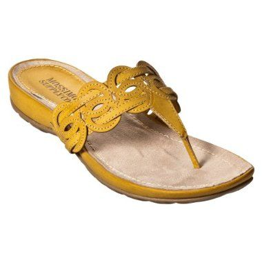yellow sandals from Target (Mossimo)