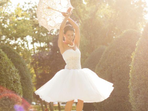 Freche Alternative: Hochzeitskleid in Tea Length
