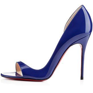 Christian Louboutin ~ Patent Leather High Heel Stilettos Royal