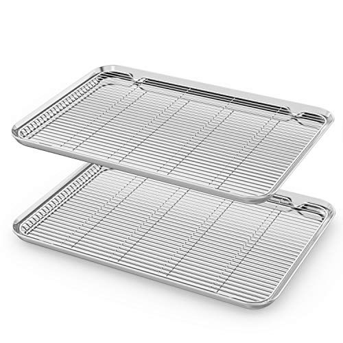 Large Baking Sheet With Rack Set Cookie Sheet Set Of 4 Https Www Amazon Com Dp B07s5rkndd Ref Cm Sw R Pi Awdb T1 Set Cookie Easy Cleaning Cookie Sheet