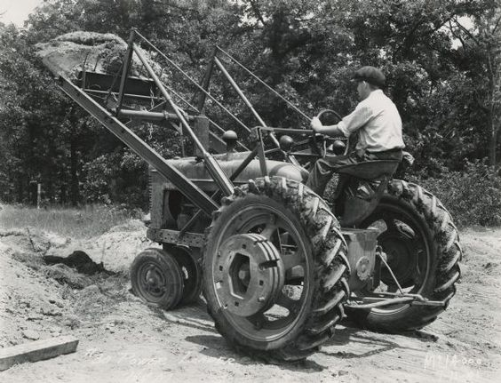 Tractor and H Power Loader | Photograph | Wisconsin Historical Society