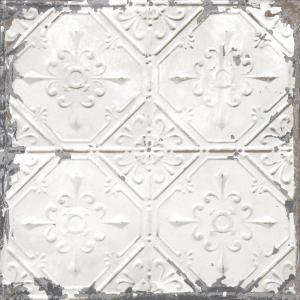 Nuwallpaper Vintage Tin Tile Peel And Stick White Off White Wallpaper Sample Nu2086sam The Home Depot Vintage Tin Tiles Antique Tin Ceiling Tile White Tin Ceiling