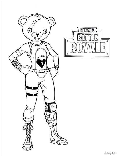 Fortnite Robot Coloring Pages
