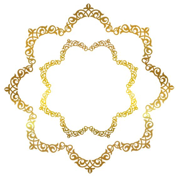 Background Decorations Golgen Border Eastern Style Png Transparent Clipart Image And Psd File For Free Download Ramadan Background Clip Art Vintage Gold Circle Frames