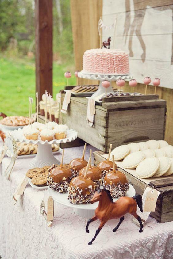 Mesa de postres mesa de postres pinterest fiesta del for Cuarto adornado para cumpleanos