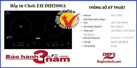 Tìm hiểu những thông số kỹ thuật trên bếp từ Chefs EH DIH2000A