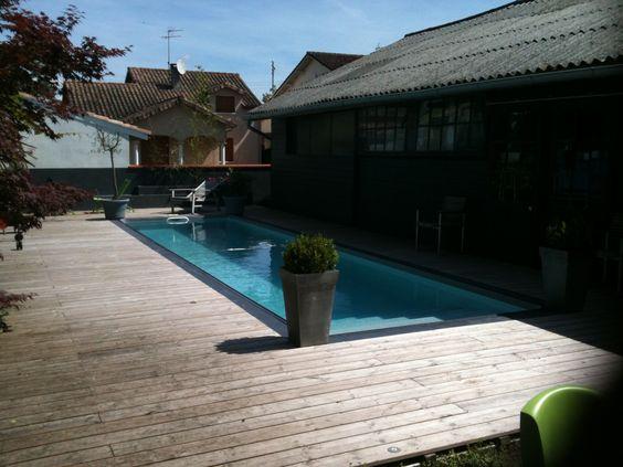 Piscine couloir de nage liner couleur gris clair piscine for Couleurs de liner pour piscine