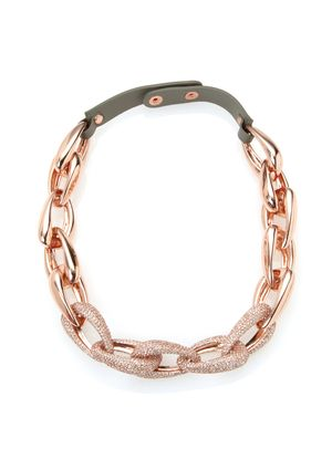 VINCE CAMUTO Pave Link Necklace