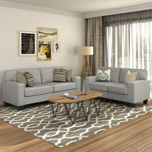 Buy Mooseng 2 Piece Mid Century Retro Modern Living Room Set Couch Loveseat Reclining Sofa Chair Bedroom Office Furniture Grey Online In 2020 Living Room Designs
