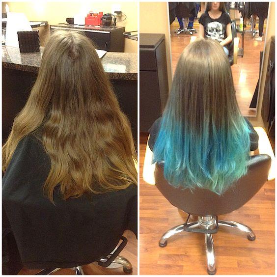 Mermaid ombré!! Love this transformation! #briaryhairstudio #ombre #lovemycareer #mermaid #mermaid hair!