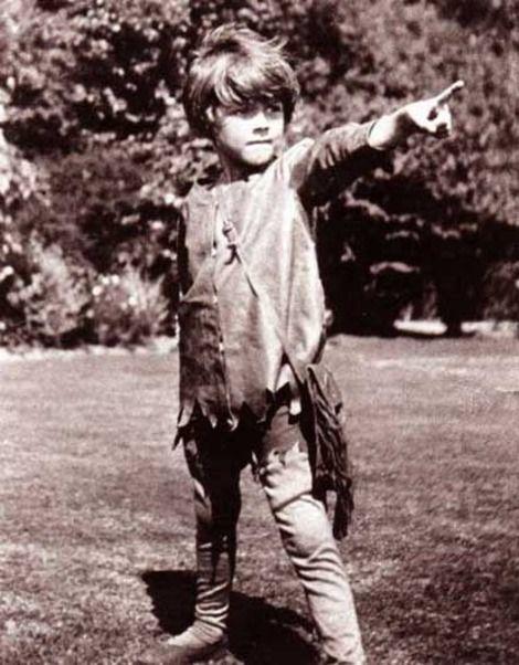 Michael Llewelyn Davies est Peter Pan (photo J.M. Barrie, 1906)