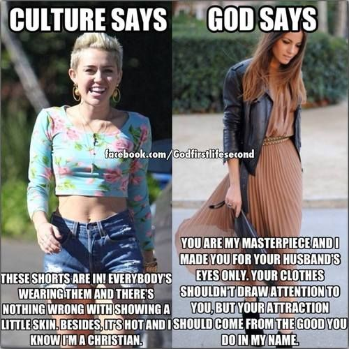 What culture says vs. what God says
