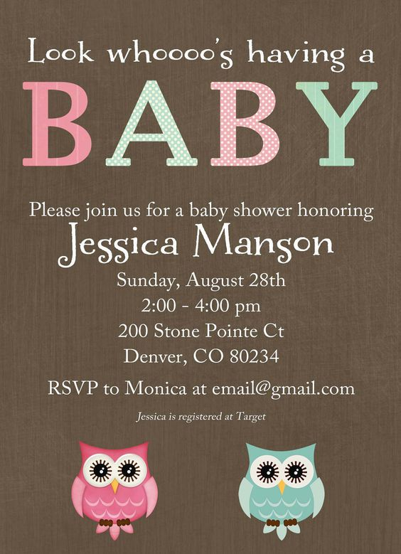 Baby Gift Ideas Unknown Gender : Owl baby shower invitation gender neutral reveal