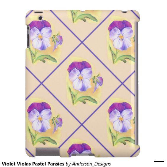 Violet Violas Pastel Pansies