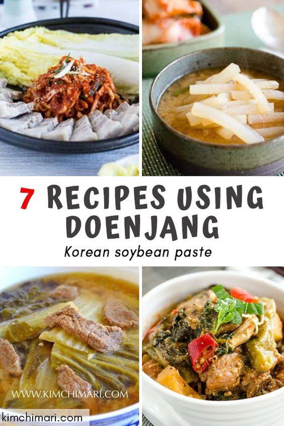 7 Recipes Using Doenjang (Korean Soybean Paste)