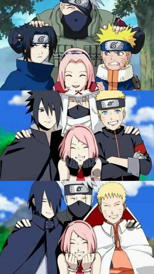 Naruto Sasuke Sakura Y Kakashi Naruto Shippuden Anime Naruto Shippuden Sasuke Naruto Sasuke Sakura