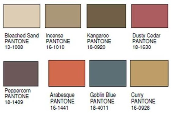 Pantone, Color palettes and Home colors on Pinterest