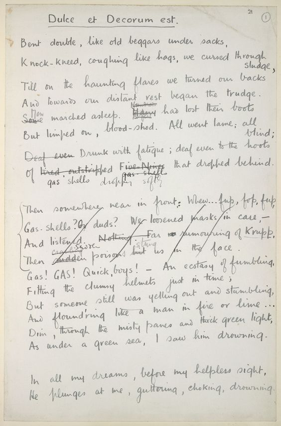 by wilfred owen essay