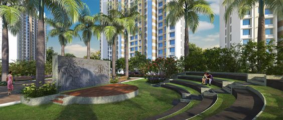 Lush green park for jogging and walking inside #MarinaEnclave in #Malad. For details visit: http://gurukrupagroup.com/marina.html
