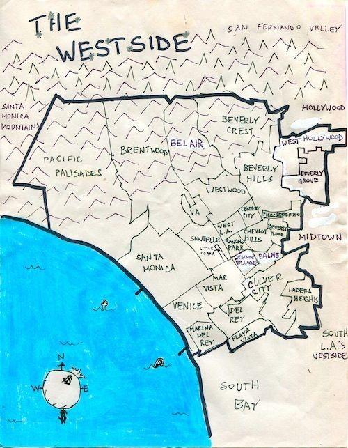 Pin By Sadik Perez On Los Angeles California Westside East Los Angeles Los Angeles Map