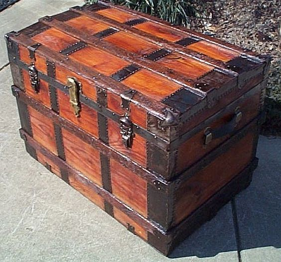 Antique Trunk TrunksSuitcases Pinterest Antiques The Ojays And Trunks