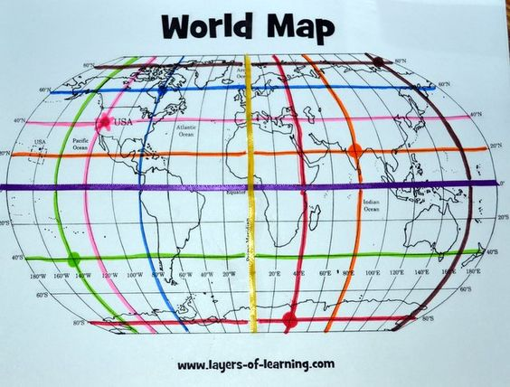Free printable world map and mapping activity for learning about free printable world map and mapping activity for learning about the equator prime meridian and latitude and longitude grid gumiabroncs Images