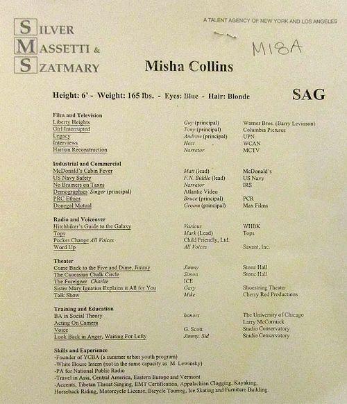 Best Misha Collins Old Resume Ideas - Simple resume Office .